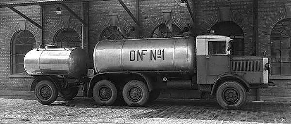 Tanker used for delivery of oils from Denofa in Fredrikstad, Norway